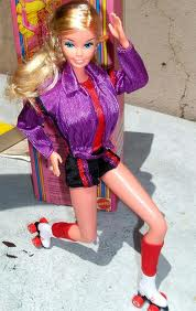 crazy skating barbie in 80s